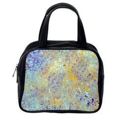 Abstract Earth Tones With Blue  Classic Handbags (one Side)