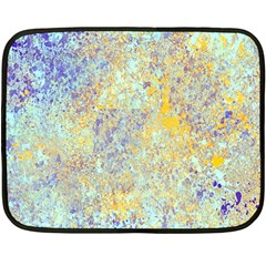 Abstract Earth Tones With Blue  Double Sided Fleece Blanket (Mini)