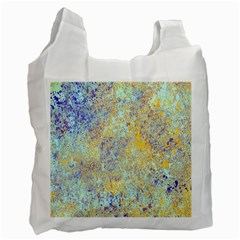 Abstract Earth Tones With Blue  Recycle Bag (one Side)
