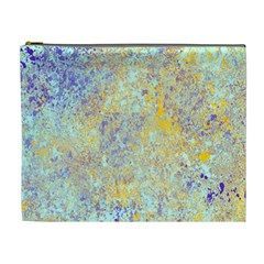 Abstract Earth Tones With Blue  Cosmetic Bag (xl)