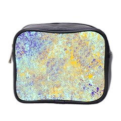 Abstract Earth Tones With Blue  Mini Toiletries Bag 2-Side