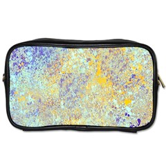 Abstract Earth Tones With Blue  Toiletries Bags 2-Side