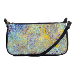 Abstract Earth Tones With Blue  Shoulder Clutch Bags