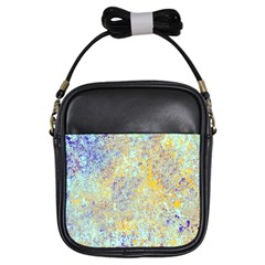 Abstract Earth Tones With Blue  Girls Sling Bags