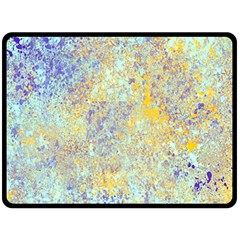 Abstract Earth Tones With Blue  Fleece Blanket (Large)