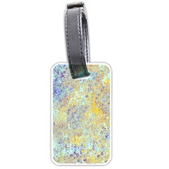 Abstract Earth Tones With Blue  Luggage Tags (two Sides)