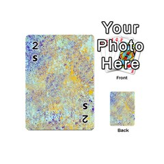 Abstract Earth Tones With Blue  Playing Cards 54 (Mini)
