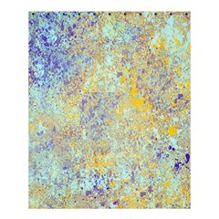 Abstract Earth Tones With Blue  Shower Curtain 60  x 72  (Medium)