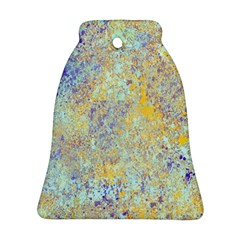 Abstract Earth Tones With Blue  Bell Ornament (2 Sides)