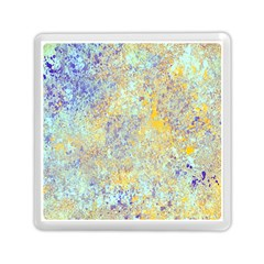 Abstract Earth Tones With Blue  Memory Card Reader (Square)