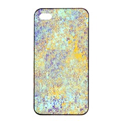 Abstract Earth Tones With Blue  Apple iPhone 4/4s Seamless Case (Black)