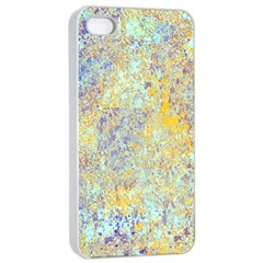 Abstract Earth Tones With Blue  Apple iPhone 4/4s Seamless Case (White)
