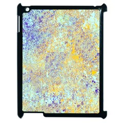 Abstract Earth Tones With Blue  Apple Ipad 2 Case (black)