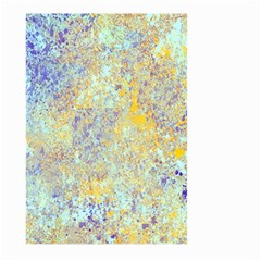 Abstract Earth Tones With Blue  Large Garden Flag (Two Sides)