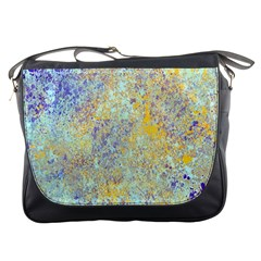 Abstract Earth Tones With Blue  Messenger Bags
