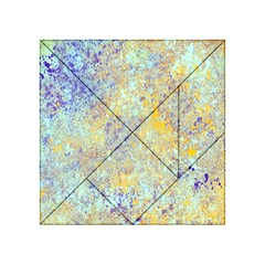 Abstract Earth Tones With Blue  Acrylic Tangram Puzzle (4  X 4 )