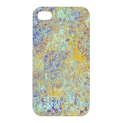 Abstract Earth Tones With Blue  Apple Iphone 4/4s Premium Hardshell Case