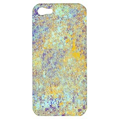 Abstract Earth Tones With Blue  Apple iPhone 5 Hardshell Case