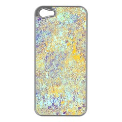 Abstract Earth Tones With Blue  Apple Iphone 5 Case (silver)