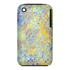 Abstract Earth Tones With Blue  Apple iPhone 3G/3GS Hardshell Case (PC+Silicone)