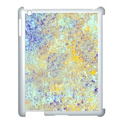 Abstract Earth Tones With Blue  Apple iPad 3/4 Case (White)