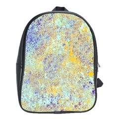 Abstract Earth Tones With Blue  School Bags (xl)