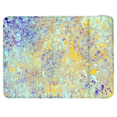 Abstract Earth Tones With Blue  Samsung Galaxy Tab 7  P1000 Flip Case