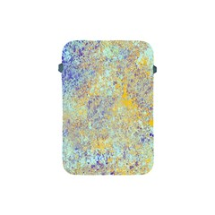 Abstract Earth Tones With Blue  Apple iPad Mini Protective Soft Cases