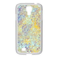 Abstract Earth Tones With Blue  Samsung GALAXY S4 I9500/ I9505 Case (White)