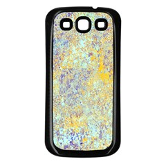 Abstract Earth Tones With Blue  Samsung Galaxy S3 Back Case (black)