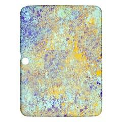 Abstract Earth Tones With Blue  Samsung Galaxy Tab 3 (10 1 ) P5200 Hardshell Case
