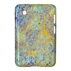 Abstract Earth Tones With Blue  Samsung Galaxy Tab 2 (7 ) P3100 Hardshell Case