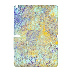 Abstract Earth Tones With Blue  Samsung Galaxy Note 10 1 (p600) Hardshell Case