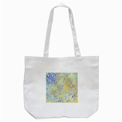 Abstract Earth Tones With Blue  Tote Bag (White)