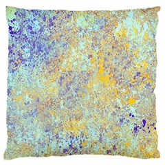 Abstract Earth Tones With Blue  Large Flano Cushion Cases (One Side)