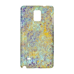 Abstract Earth Tones With Blue  Samsung Galaxy Note 4 Hardshell Case