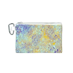 Abstract Earth Tones With Blue  Canvas Cosmetic Bag (s)