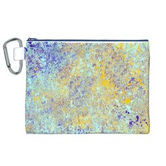 Abstract Earth Tones With Blue  Canvas Cosmetic Bag (XL)
