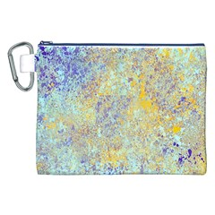 Abstract Earth Tones With Blue  Canvas Cosmetic Bag (XXL)