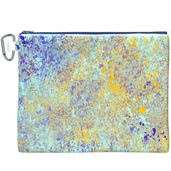 Abstract Earth Tones With Blue  Canvas Cosmetic Bag (XXXL)