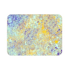 Abstract Earth Tones With Blue  Double Sided Flano Blanket (Mini)