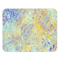 Abstract Earth Tones With Blue  Double Sided Flano Blanket (large)