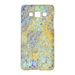 Abstract Earth Tones With Blue  Samsung Galaxy A5 Hardshell Case