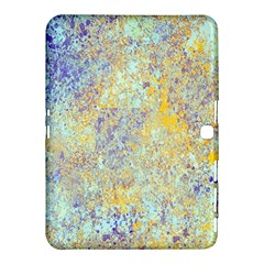 Abstract Earth Tones With Blue  Samsung Galaxy Tab 4 (10.1 ) Hardshell Case