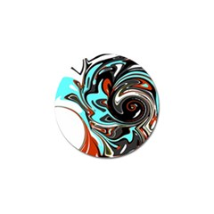 Abstract In Aqua, Orange, And Black Golf Ball Marker (10 Pack)
