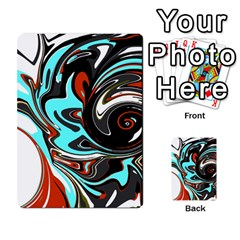 Abstract in Aqua, Orange, and Black Multi-purpose Cards (Rectangle)