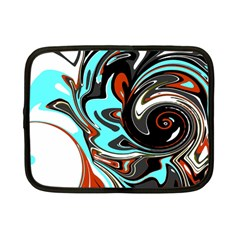 Abstract In Aqua, Orange, And Black Netbook Case (small)