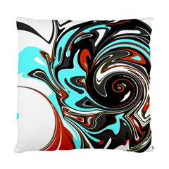 Abstract In Aqua, Orange, And Black Standard Cushion Case (one Side)