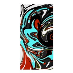 Abstract in Aqua, Orange, and Black Shower Curtain 36  x 72  (Stall)