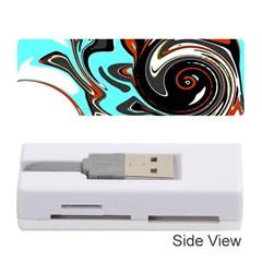 Abstract in Aqua, Orange, and Black Memory Card Reader (Stick)